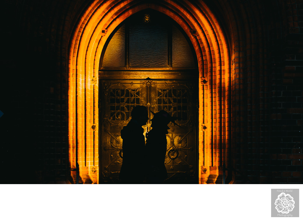 Silhouette Portrait Destination Wedding Photographer