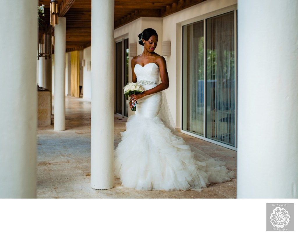 Destination Bridal Portraits in Punta Cana