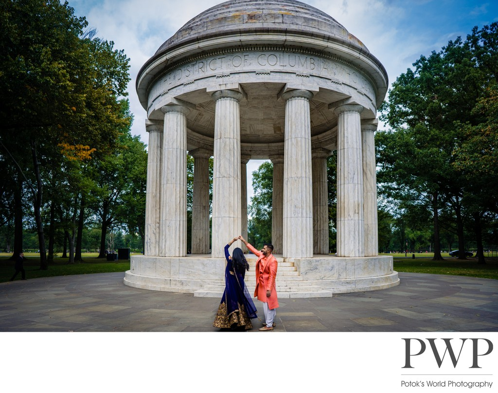 DC War Memorial Wedding Photographers