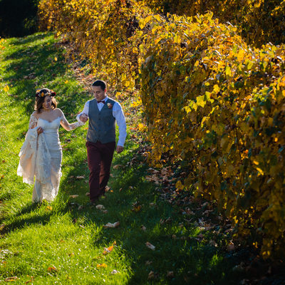 Fall Wedding Photos at Bluemont Vineyard in Virginia