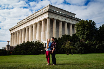 Lincoln Memorial Engagement Photography