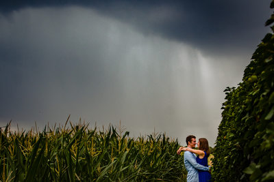 Engagement Pictures in the Rain
