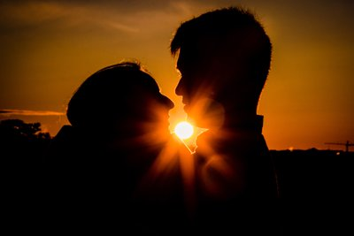 Sunrise vs Sunset Engagement Photos in DC