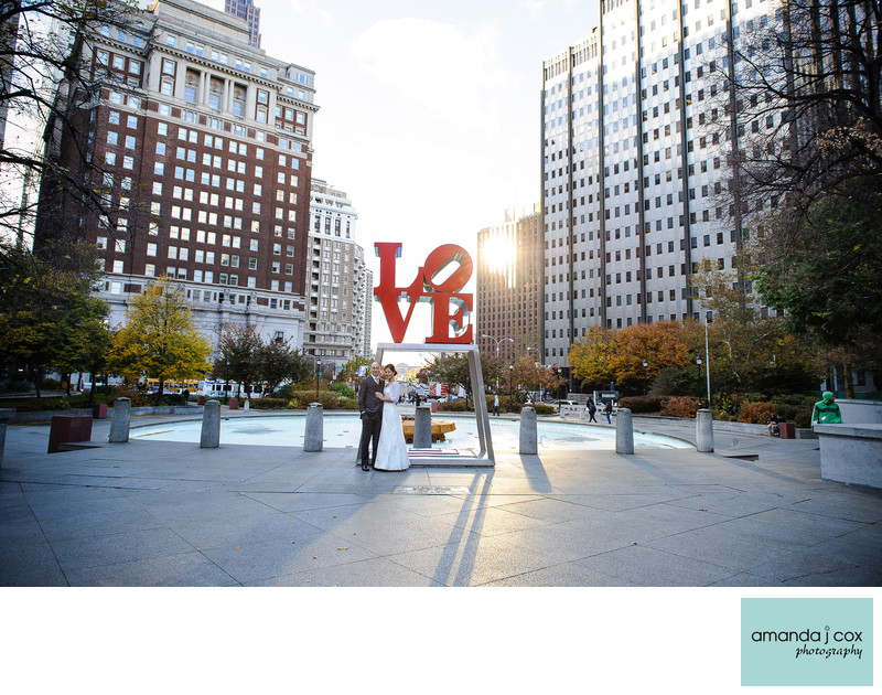 Love Park Philadelphia Wedding Photography