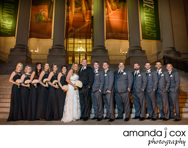 Franklin Institute Wedding Party Photographer