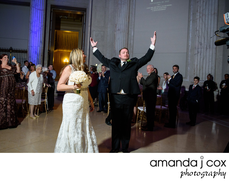 Philadelphia Franklin Institute Wedding Reception Photo