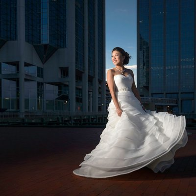 Halifax Bride on the waterfront