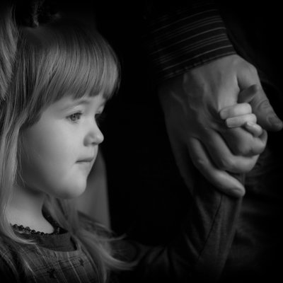 Halifax Dad and Daughter Holding Hands
