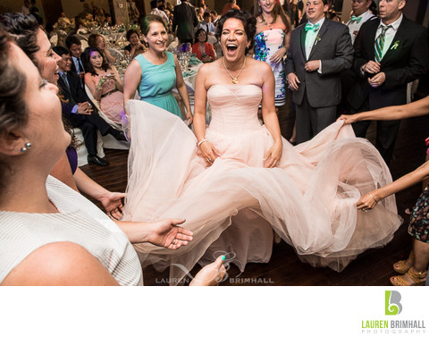 Bride Having Fun at Reception