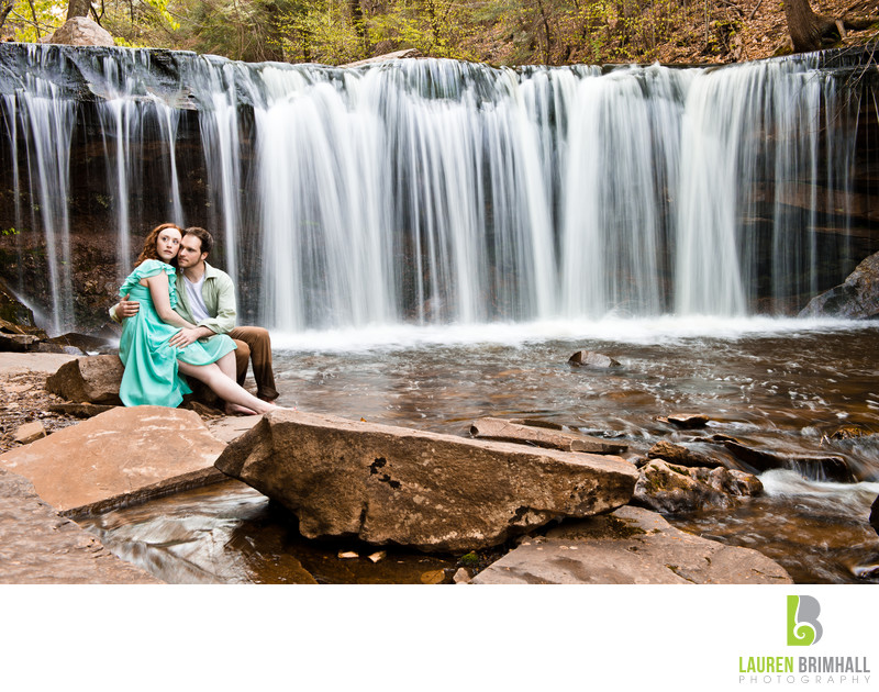Waterfall Wedding Portrait