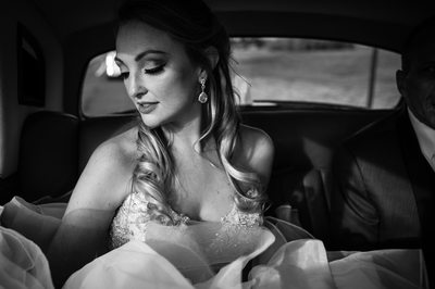 Beautiful Bride in Rolls Royce