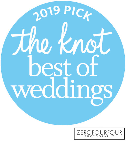 Best of weddings badge from The Knot website