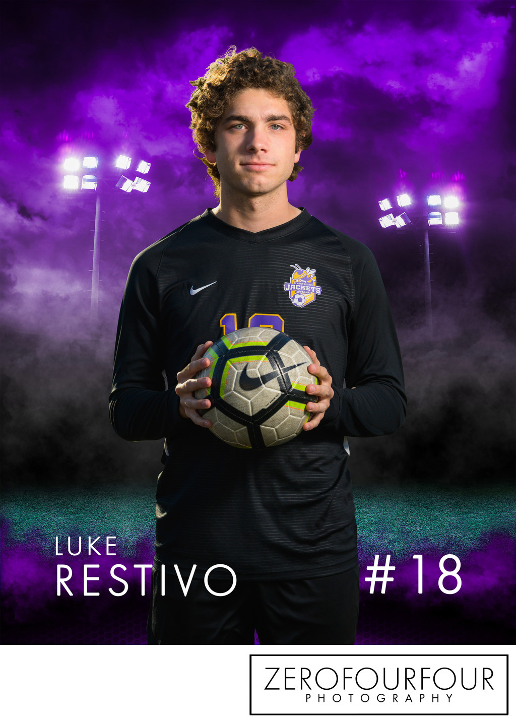 Denham Springs High school soccer player portrait