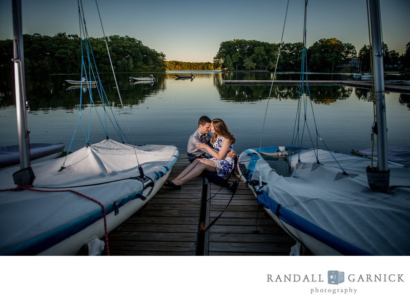 sailing club Boston engagement pics