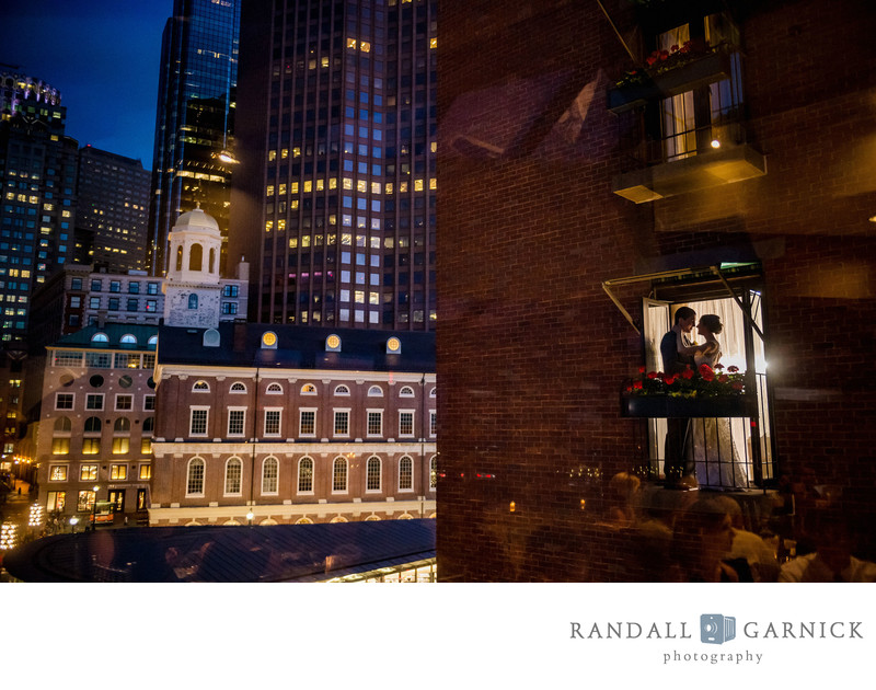 Classic Bostonian hotel wedding photo