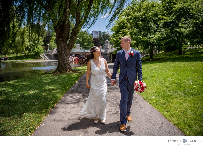 Boston Public Garden elopement photos