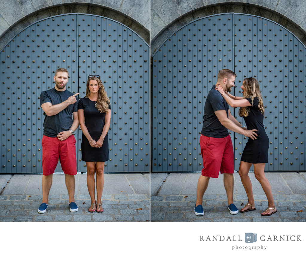 Boston engagement session at Castle Island