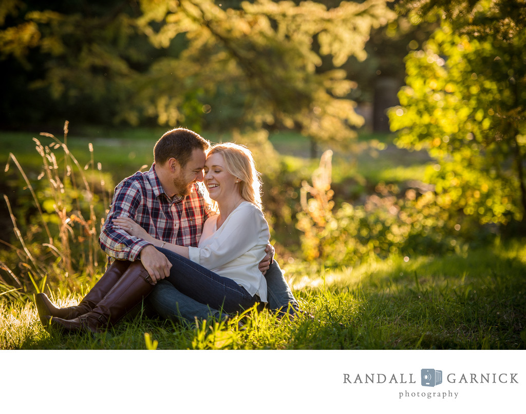 Engagement photos during Fall in New England