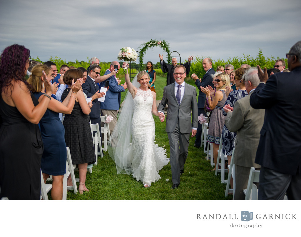 Wedding photographers at Saltwater Farm Vineyard