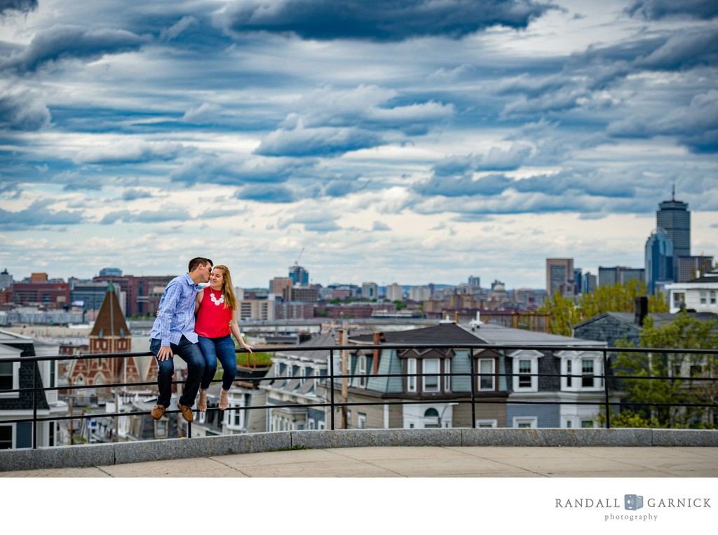 Bunker Hill Monument engagement session Boston