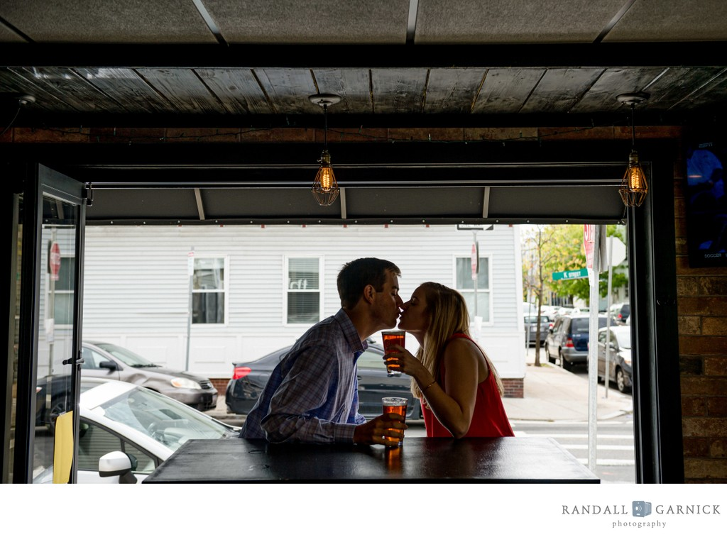 South Boston engagement session afternoon drinks