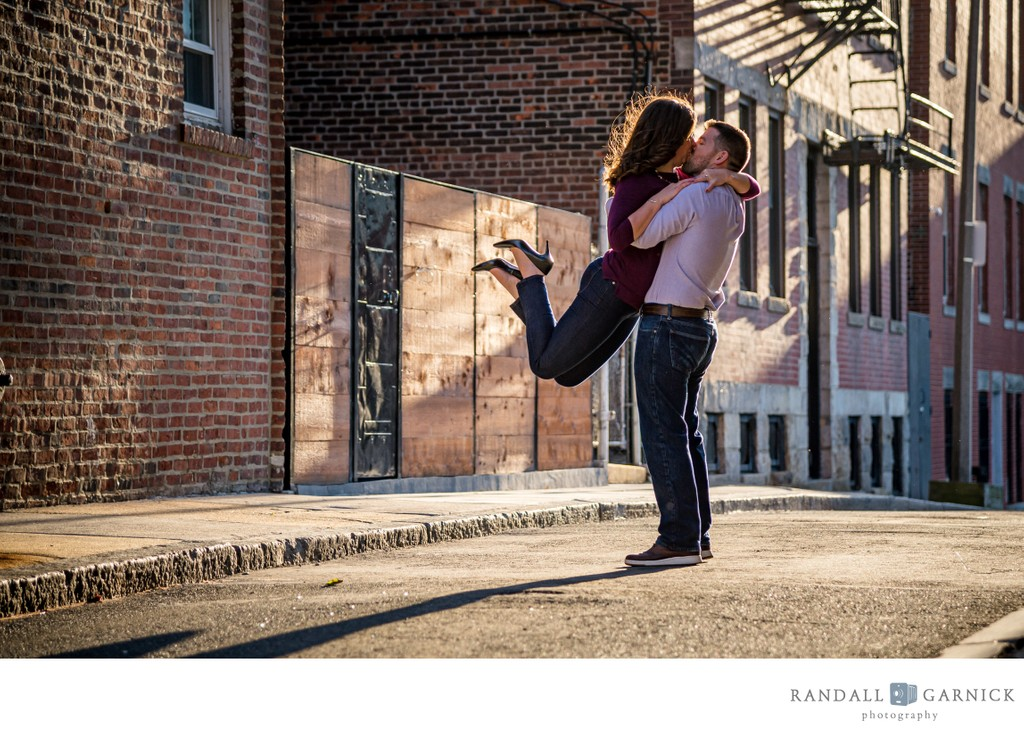 North End Boston engagement session