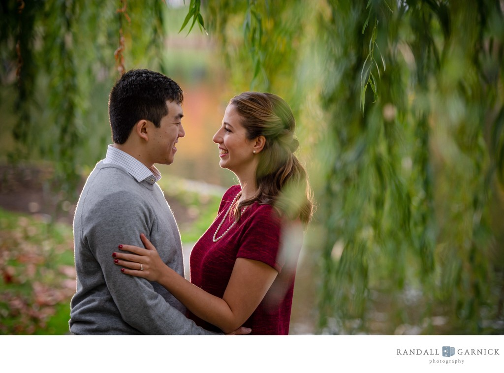 Fall engagement session at the Boston Public Garden
