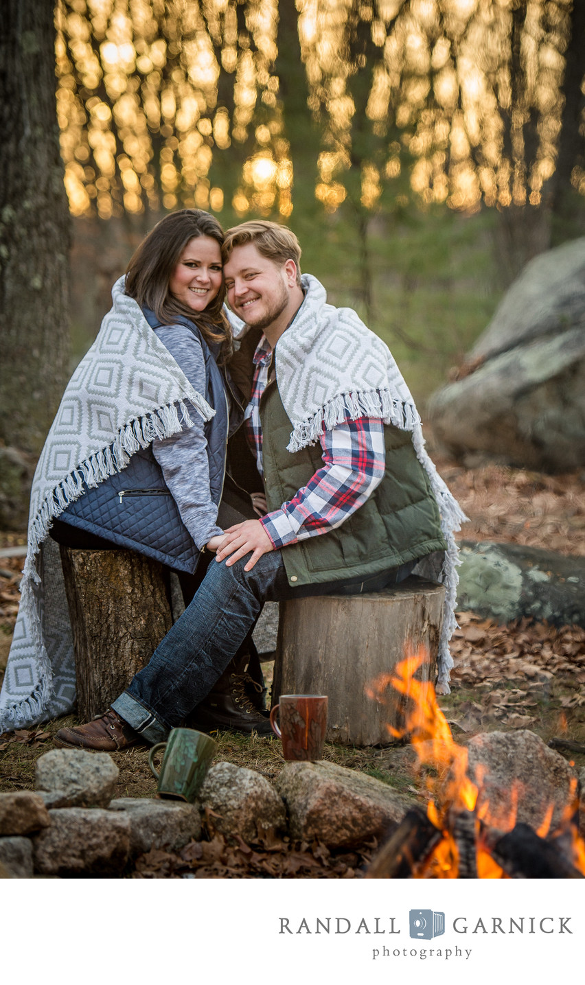 Campfire Fall engagement session
