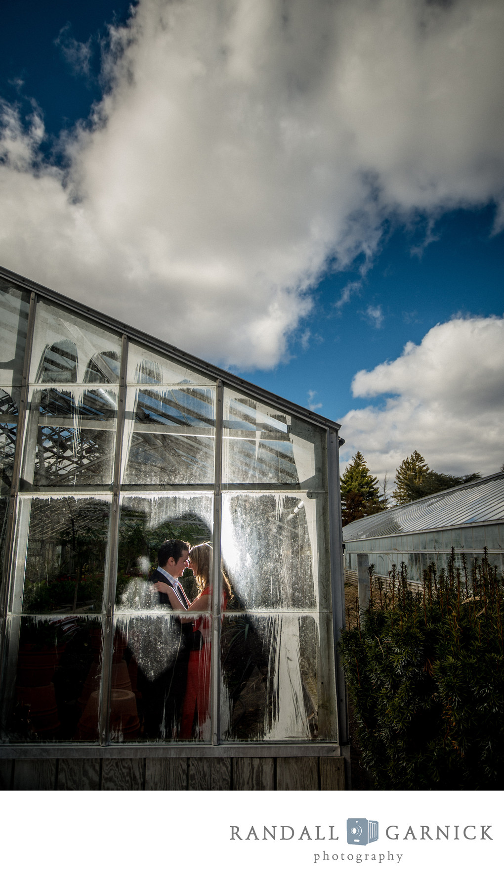 Greenhouse engagement photos at Roger Williams Park