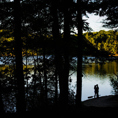 Walden Pond engagement photos