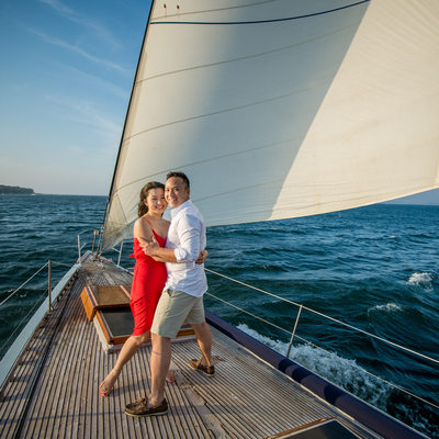 Newport sailing engagement shoot