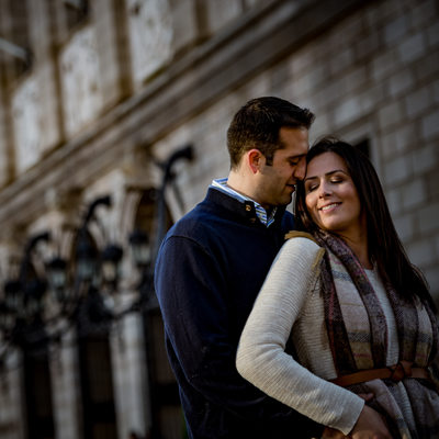 Boston Public Library engagement shoot