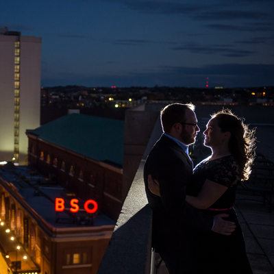 Boston night engagement shoots