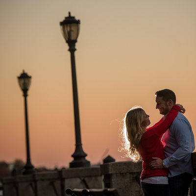 Sunset engagement photo ideas