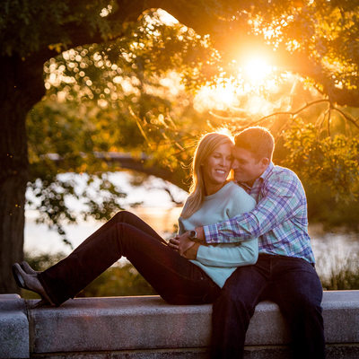 Charles River Esplanade engagement photographer