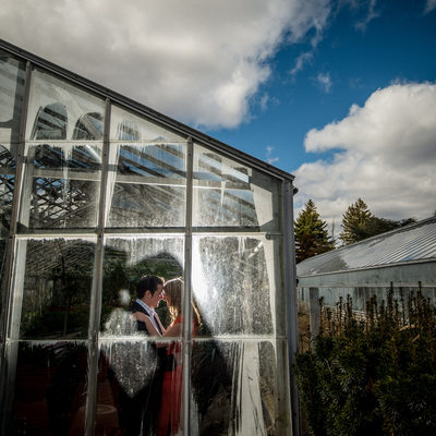 Greenhouse engagement photos