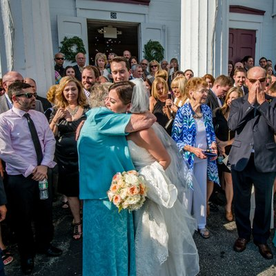 New England wedding real moments