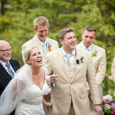 outdoor wedding ceremony at Loon Mountain Resort