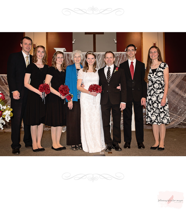 Church Wedding Family Portrait Photographer Little Rock