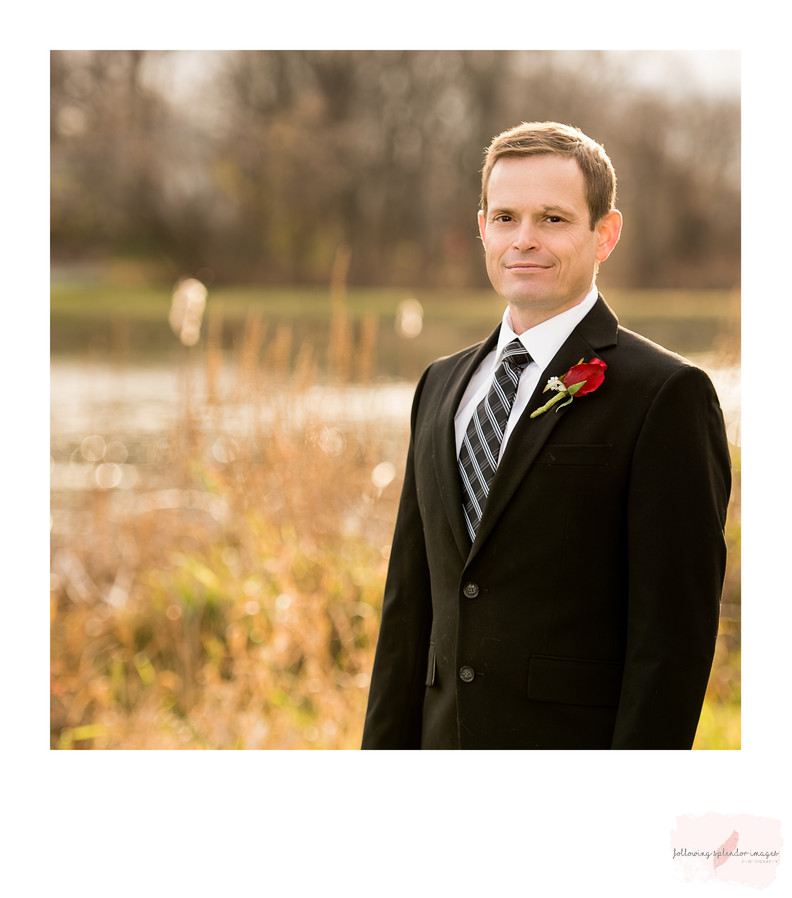 Groom At Fall Wedding
