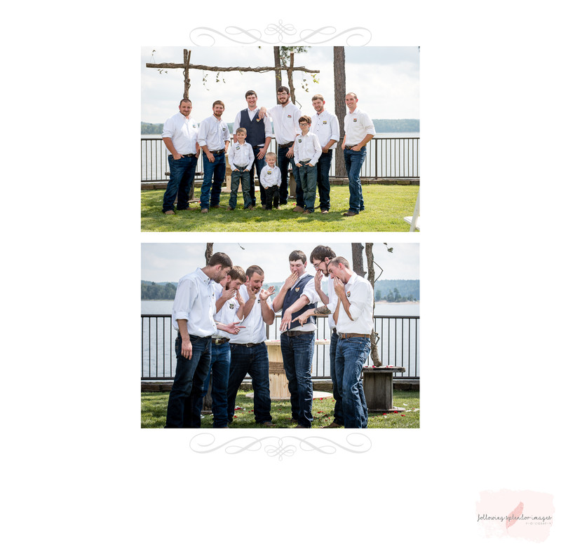 Groomsmen at Lake Degray Resort Lodge
