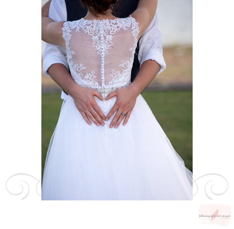 Lace Backed Wedding Gown Lake Degray Wedding