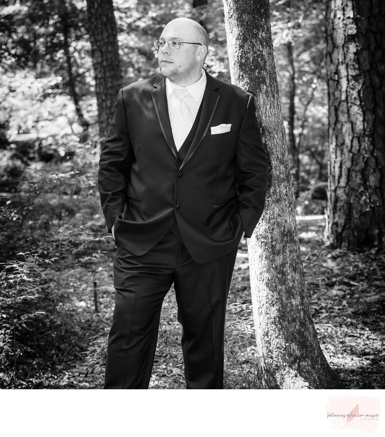 Groom Portrait at Garvan Gardens Wedding Chapel