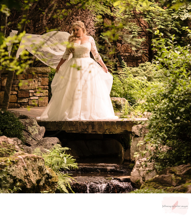 Garvan Garden Wedding Bridals Hot Springs Photographer
