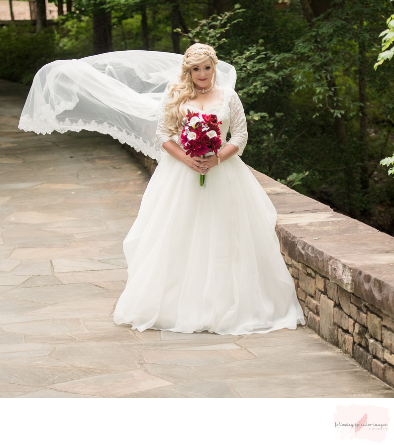 Garvan Woodland Gardens Wedding Bridal Portraits