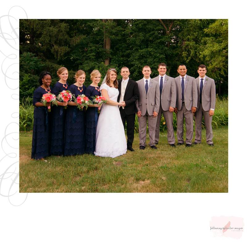 Conservative Wedding Party in Navy Dresses