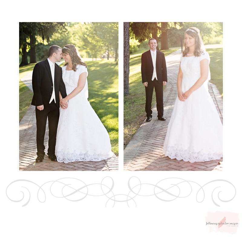 Bride And Groom Wedding Album Page