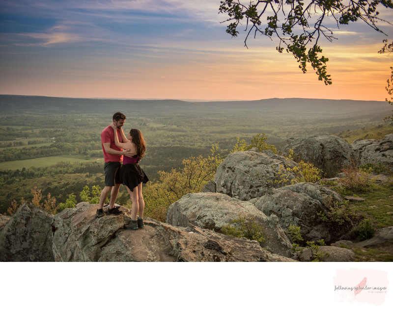 She Said Yes Proposal On Petit Jean Mountain