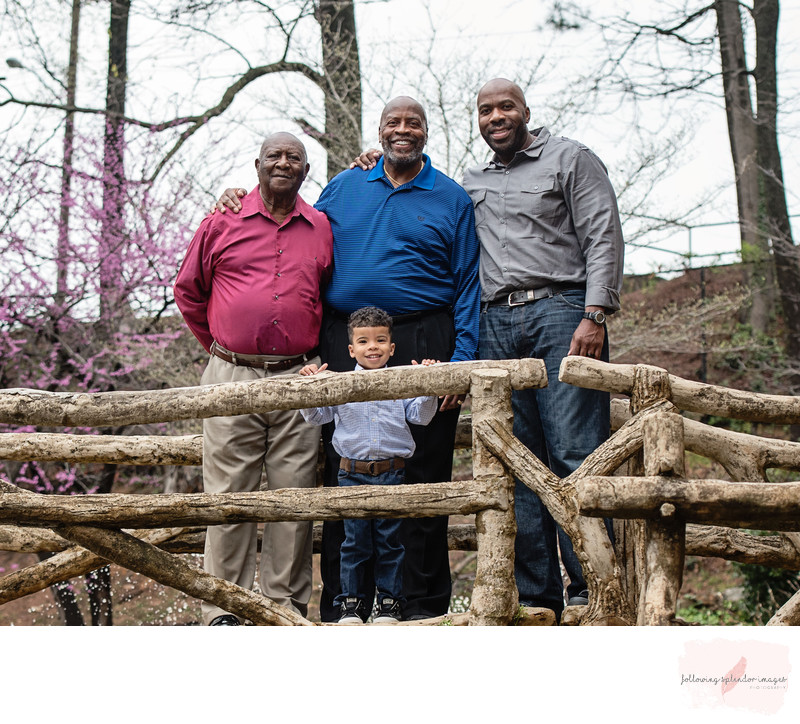 Old Mill Park Family Four Generation Portrait