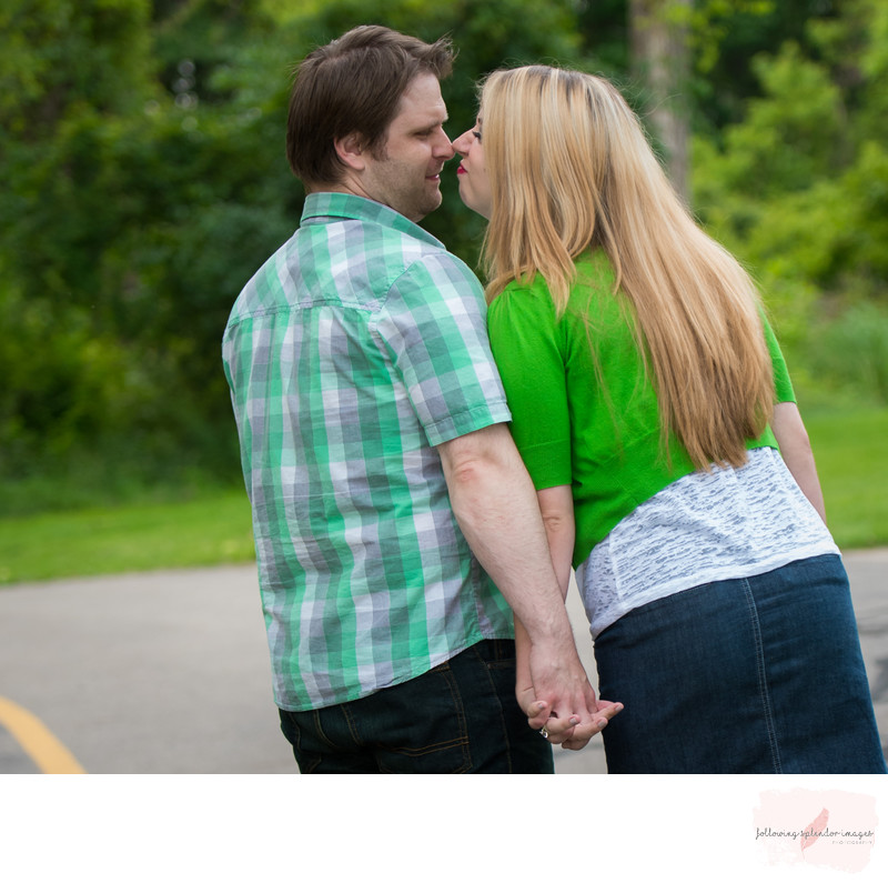 Fun Couple Portraits at Celery Flats in Michigan